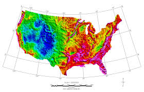 Altitude Map Of Usa by Us Elevation And Elevation Maps Of Cities Topographic Map Contour