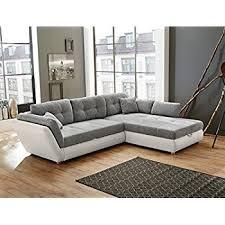sofa grau weiãÿ wohnlandschaft jacobo 297x207 cm grau weiß funktionssofa eckcouch