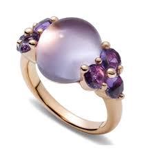 pomellato anelli anello donna pomellato oro rosa e ametista a a702 o7 oi