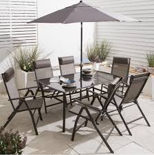 Metal Garden Table New Roma 8 Piece Metal Garden Furniture Set Table Parasol U0026 6