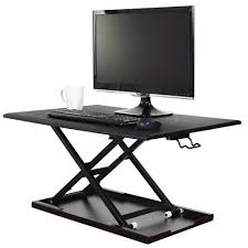 luxor lvlup32 bk adjustable stand up desktop desk 31 1 2