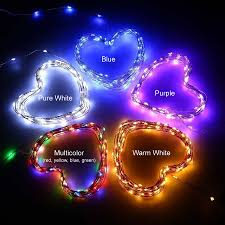 Red Heart Fairy Lights by 200 Leds Waterproof Solar Powered Starry String Copper Wire Fairy