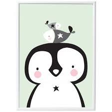 poster chambre bebe poster bébé pingouin déco chambre bébé bebe cadeau ch