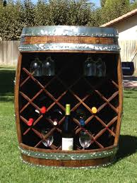 buy a hand crafted wine barrel wine rack made to order from wyld