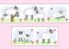 Sheep Nursery Decor Sheep Nursery Wallpaper Border Wall Decals Farm