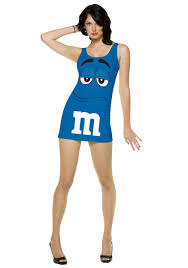 m m costume womens blue m m costume