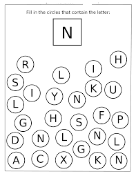 letter n worksheets for preschool and kindergarten preschool and