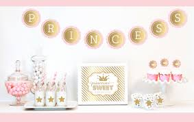 gold u0026 glitter princess party decor kit decorations and supplies