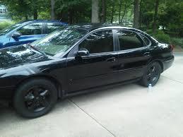 matte black car matte black stripe and wheels taurus car club of america ford