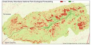 Great Smoky Mountains National Park Map Stopping The Spread Of The Hemlock Woolly Adelgid Earthzine