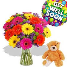 Get Well Soon Flowers Small Flower Arrangement Get Well Soon Gift By Artificialwreaths