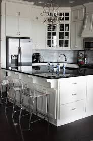 black granite countertops and white shaker style ceiling height