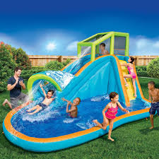 Water Slide Backyard Banzai Pipe Line Aqua Park Inflatable Water Slide Backyard Summer