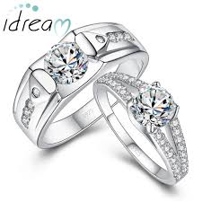 engagement rings for couples cubic zirconia diamond engagement rings set for men and women