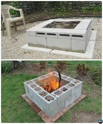 Diy Firepits Diy Cinder Block Pit 10 Simple Cinder Block Garden Projects