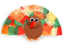 tissue paper turkey craft ideas