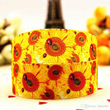 offray ribbon outlet 7 8 22 mm 10 yards sunflowers ladybug series printed grosgrain