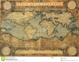 antique map world antique map of world stock photo image of historic abstract