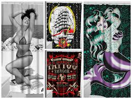 Graphic Shower Curtains by Shower Curtains Back In Stock Sourpuss Clothing Wholesale