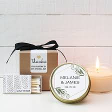 candle wedding favor set of 6 4 oz soy candle wedding favors minimalist label