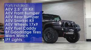 aev jeep 2 door jeep wrangler aev package youtube