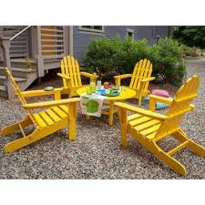 Yellow Patio Chairs Plastic Patio Furniture Yellow Outdoor Lounge Furniture