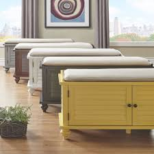 Inspire Q Beds by Maybelle Beige Velvet Cushioned Shutter Door Storage Bench By