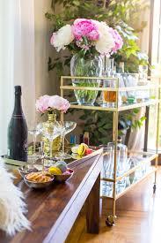 Design Bloggers At Home by Sazan U0027s Bar Cart Makeover