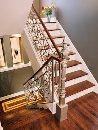 Decorative Railing Interior Wrought Iron Stair Railings For Stunning Interior Staircases