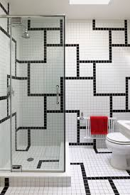 a bathroom tile design idea for pattern lovers on a budget