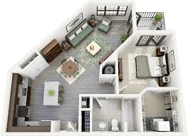 Small Flat Floor Plans Bedroom Excellent Floor Plans Of The One Bedroom Apartment Will