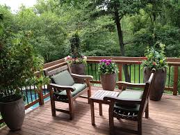 ideas for terrace garden planted with vines and plants plus small