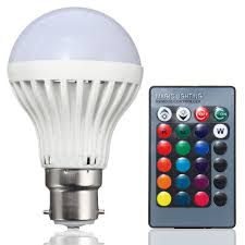 color changing light bulb with remote b22 3w rgb 16 color changing led spot light l bulb remote control