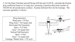 for the piper cherokee aircraft flying at 80 kts a chegg com