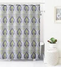 Gray Fabric Shower Curtain Ikat Shower Curtain Ebay