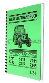 dílenská příručka zetor 5211 7245 v německém jazyce agroad