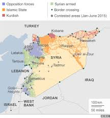 Syria On A Map by Syria Mapping The Conflict Bbc News