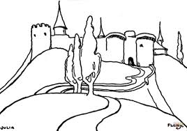 castle on high mountain coloring page free printable coloring pages
