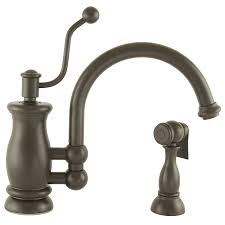 Oil Bronze Kitchen Faucet by Shop Mico Designs Seashore Oil Rubbed Bronze 1 Handle High Arc