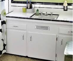 vintage metal kitchen cabinets for sale where to buy a metal vent grille for sink base cabinet retro kitchen
