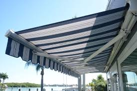 Blue Awning Marygrove Sun Shades Remote Control Motorized Retractable Roll