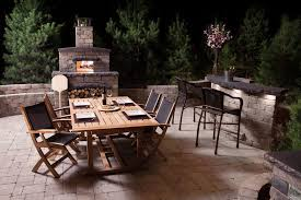 Fire Pit Pizza - rustic outdoor bar patio contemporary with wood directors chair
