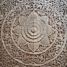 circle carved wall panel siam sawadee