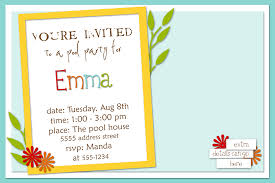 Birthday Party Invitation Card Design Sample Birthday Party Invitations Vertabox Com