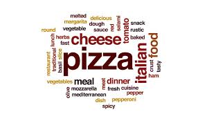 animation cuisine pizza word cloud text design animation stock footage