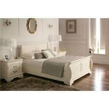 White Wooden Sleigh Bed Sleep Emporium Louie Sleigh Bed Cream 379 00 Bedroom