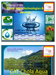 cat chola aqua technologies corporate presentation l copy