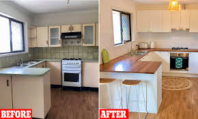 how to paint kitchen cabinets bunnings shows 5 000 kitchen renovation