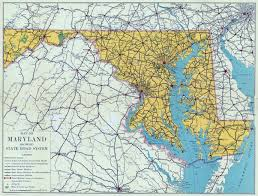 State Map Of United States by Large Detailed Road Sysytem Map Of Maryland State U2013 1937 Vidiani