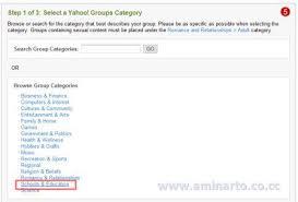 membuat group di yahoo mail cara membuat mailing list di yahoo groups aminarto online